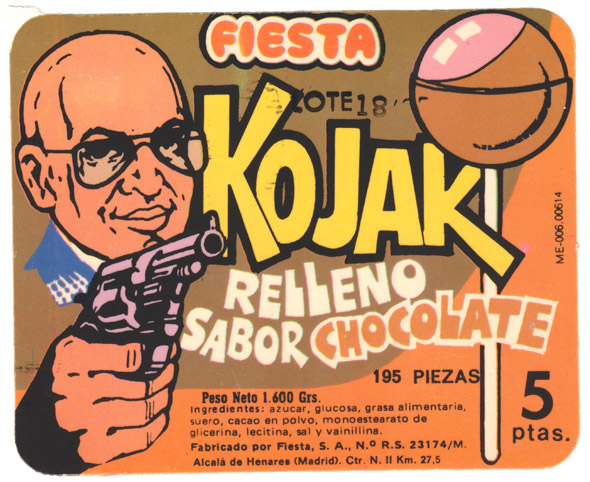 Cartel original de los chupones Kojak