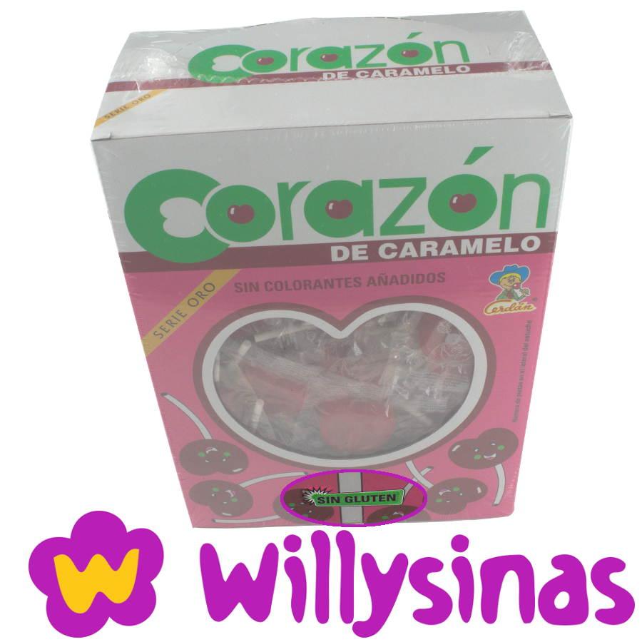 Detalle anuncio Sin Gluten estuche piruletas de Corazon y cereza