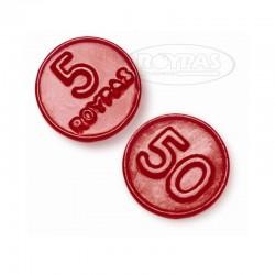 Monedas de Regaliz Rojo