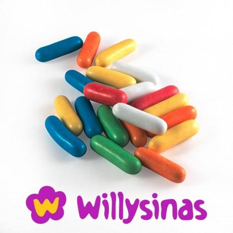 Capsulas de caramelo rellenas de Regaliz