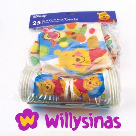 Menaje de mesa de Winnie The Pooh para fiestas infantiles