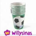 Ocho Vasos para beber en la fiesta tematica de Futbol