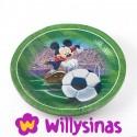 8 Platos grandes de Mickey jugando al Fútbol