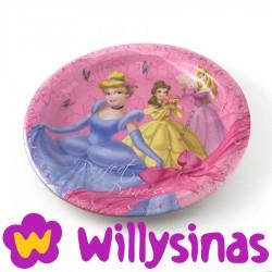 Plato grande de las princesas de Disney Cinderella, Bella y Aurora