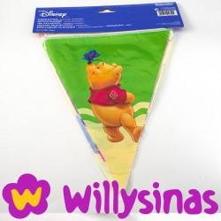 Guirnalda de Winnie de Pooh con banderines de pico
