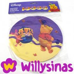 Guirnalda de banderolas redondas con Winnie the Pooh