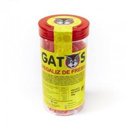 Regaliz de fresa Los Gatos en tarro para llevar